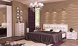 Кровать двуспальная с мягким изголовьем и подъемным механизмом Белла BL-49-WB MiroMark белый глянец, фото 5