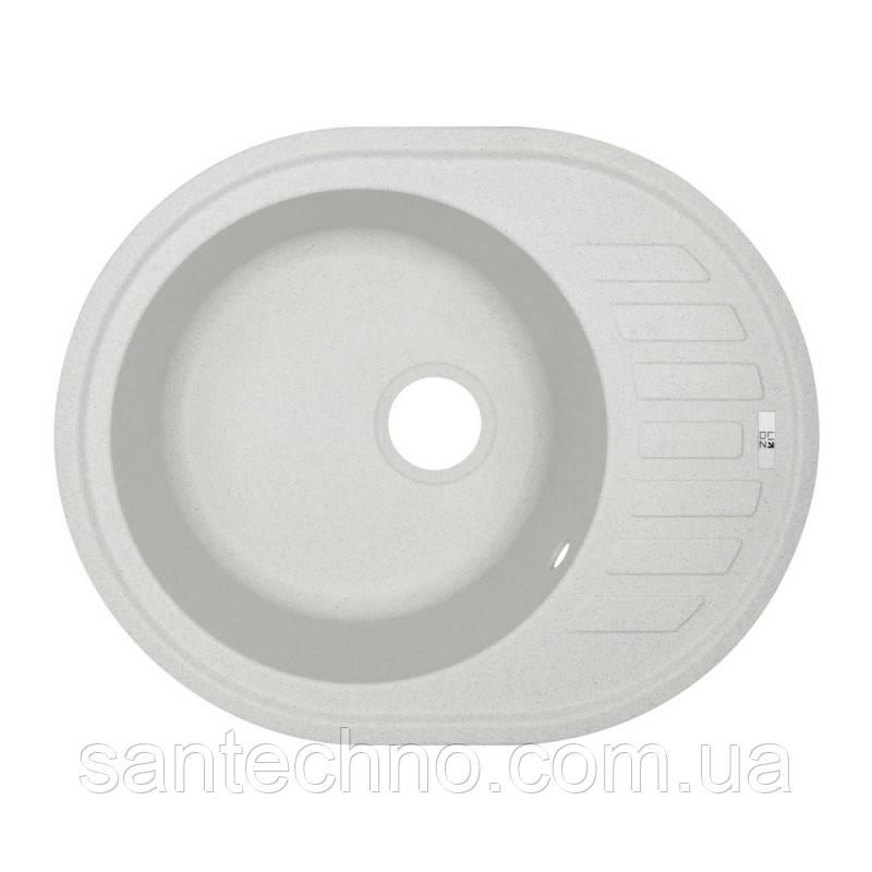 Мойка овальная гранитная для кухни Lidz 620x500/200 STO-10