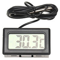 Термометр цифровой с выносным датчиком (Черный), фото 1