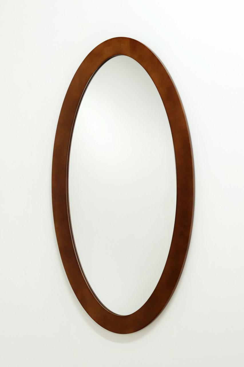 Зеркало овальное в раме из дерева 026