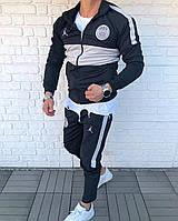 Мужской спортивный костюм черный Jordan PSG