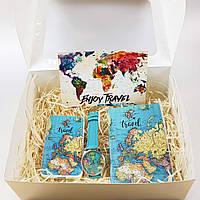 Подарочный набор ZIZ Карта путешествий Подарок на Новый год 2021