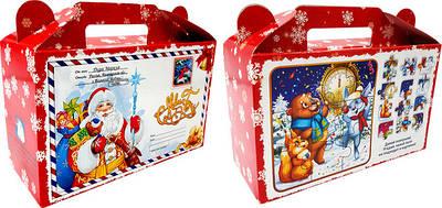 Новорічна коробка для цукерок