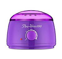 Воскоплав для депиляции баночный Konsung Pro wax 100 фиолетовый