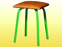 Табурет полумягкий (кожзаменитель),квадратный, гнутые ножки, 320х320х460 мм.