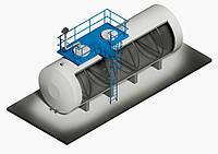 Резервуар горизонтальный стальной двустенный РГД-3 м3