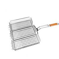 Решетка для гриля 43*30*6 см Benson B902. Универсальная решетка-гриль BBQ Benson BN - 906 для барбекю 32х26 см