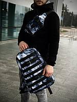 Комплект Рюкзак + Бананка Fazan V2 Intruder черный с принтом, фото 1