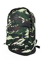 Рюкзак с кожаным дном цвет комуфляж, фото 1