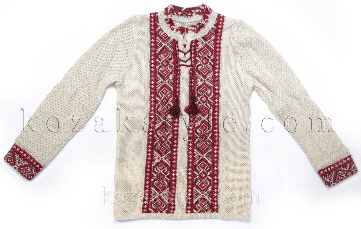 Джемпер  на хлопчика  з українським орнаментом