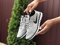 Кросівки жіночі в стилі   Nike Free Run 3.0 світло сірі