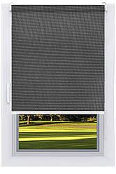 Тканевый ролет Скрин Черно Серый (Люкс ,BSC-210)
