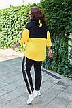 Костюм женский спортивный двойка, кофта с капюшоном на молнии+штаны, Р-р.50-52,54-56,56-60 Код 078Е, фото 3