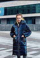 Удлиненные зимние куртки детские для девочек размеры 38-44