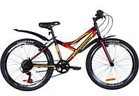 """Велосипед подростковый 24"""" Discovery Cool (Flint) 14G Vbr St, стальная рама 14"""" черно-оранжевый"""