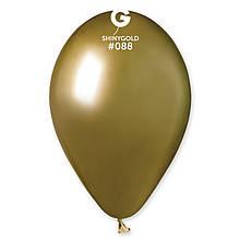 "Латексна кулька хром золотий 13"" / 88 / 33см Shiny Gold"