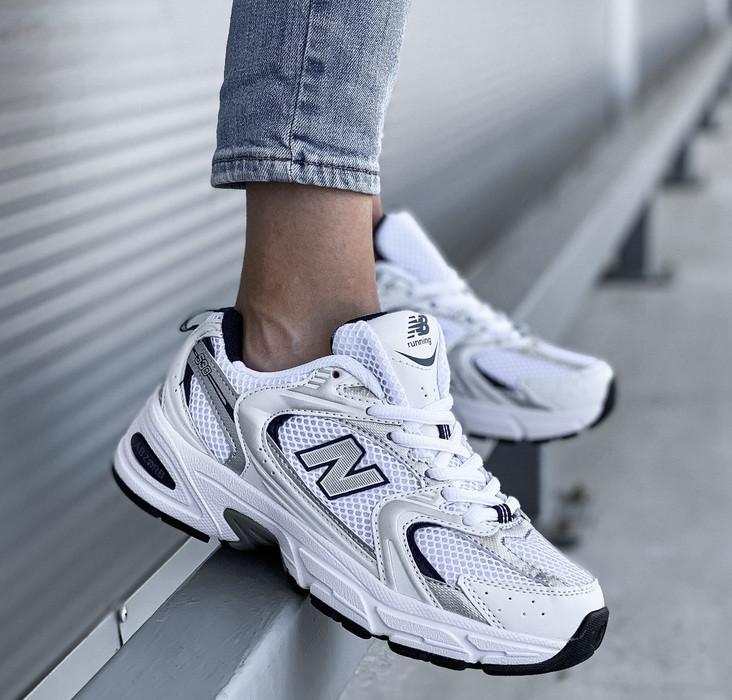 Женские кроссовки New Balance 530 White Silver. Живое фото. Реплика