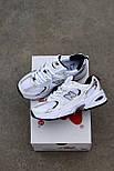 Женские кроссовки New Balance 530 White Silver. Живое фото. Реплика, фото 2