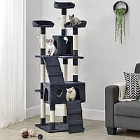 Когтеточка 170см Amy колір сірий, Дряпка, Будиночок для кота