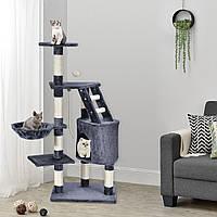 Когтеточка Бафі 118см сірий колір Дряпка Будиночок для кота
