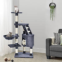Когтеточка Бафи 119см серый цвет Дряпка Домик для кота