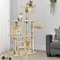 Игровой комплекс для кота Kira, Дряпка, Домик для кота, Когтеточка