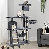 Когтеточка Кира 141см цвет серый Дряпка Домик для кота