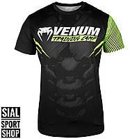 Оригинальная мужская футболка Venum Training Camp 2.0 Dry Tech T-shirt - Black/Neo Yellow - Exclusive