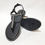 Женские босоножки пляжные, р. 37 последняя пара черные, фото 2