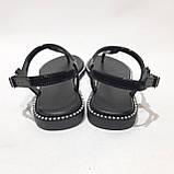 Женские босоножки пляжные, р. 37 последняя пара черные, фото 7