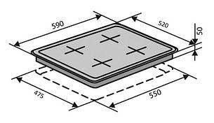 Поверхность газовая Ventolux HG 640 B2 S (BK) Черный, фото 2