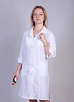 """Медицинский халат женский """"Health Life"""" габардин белый 1120"""