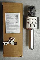 Колонка мікрофон Wireless Microphone WS-858 Gold, фото 3