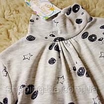 Стильная водолазка - гольф щенки на сером Five Stars KD0362-116р, фото 3