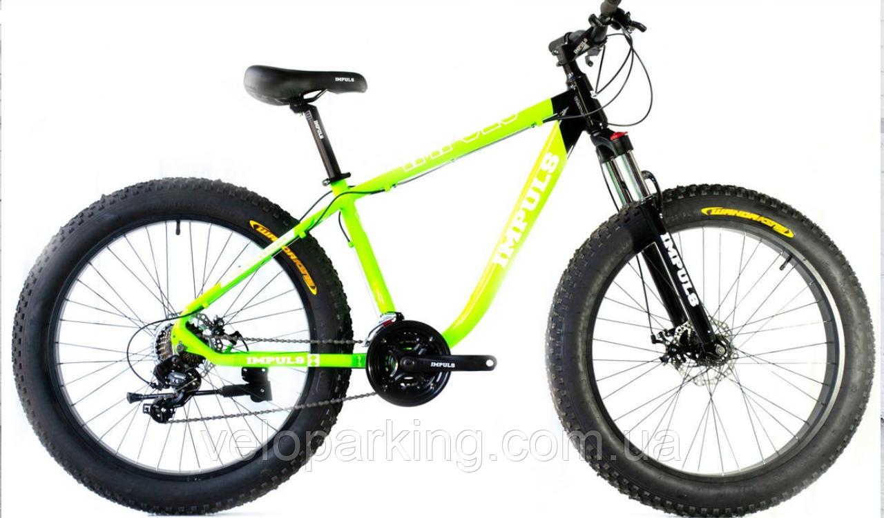 Велосипед алюминиевый внедорожник фэтбайк Key Best 26 (fatbike) 2020