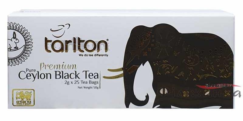 Цейлонський чорний чай Тарлтон в пакетиках 25 х 2 м