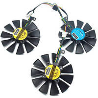 Вентиляторы 3шт 87мм 12В PLD09210S12M PLD09210S12HH ASUS Strix GTX 1080