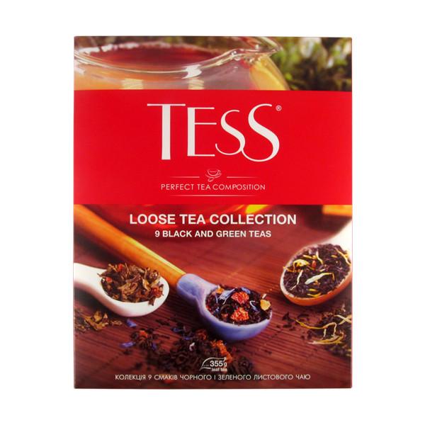 Подарочный набор листового чая TESS ассорти 9 вкусов 355 грамм