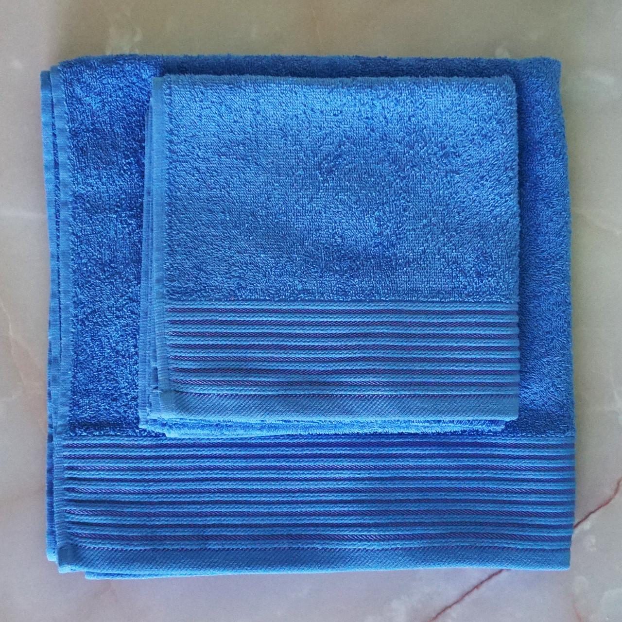 Полотенца махровые 50х90 см, 70х140 см набор полотенец для ванной (набір махрових рушників)
