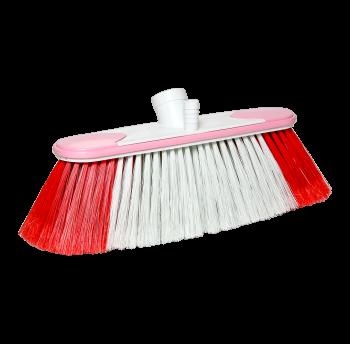 Щетка для сухой и влажной уборки 23 см lux бело-розовая