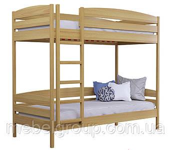 Двоярусне ліжко Дует Плюс Масив (Без ящиків і без бортика)