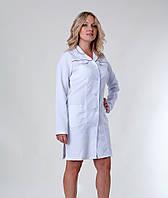 """Медицинский халат женский """"Health Life"""" габардин белый 1122"""