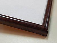 Рамка А4 (210х297).Рамка пластиковая 14 мм.Темное дерево.