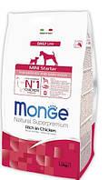 Сухой корм Monge (Монже) Mini Starter Стартер для щенков и беременных собак 1,5 кг
