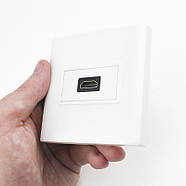 HDMI Розетка JETIX TD-02 белая с угловым коннектором, фото 6
