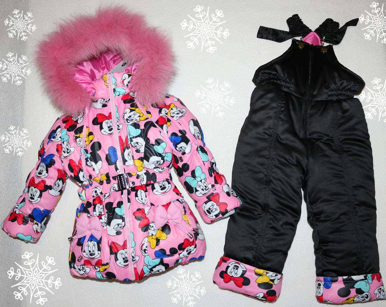 25d969b9567 Зимний комбинезон +куртка 3-4 года натуральная опушка - Детская одежда из  Турции оптом
