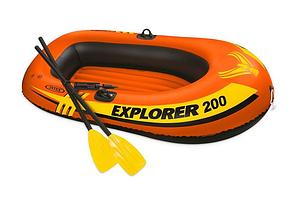 Двухместная надувная лодка Intex 58331 (185 x 94 x 41 см) Explorer 200 Set + Пластиковые весла и насос, фото 2