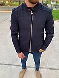 Мужская классическая куртка осень-весна с воротником бордовая Турция. Фото в живую. Чоловічі куртки, фото 2