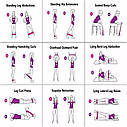 Спортивные тренировочные эластичные резинки 3шт, фото 8