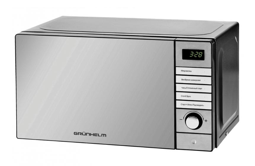 Микроволновая печь Grunhelm 20MX921-S (нержавейка, зеркальная)
